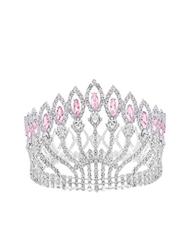 Costumes Rentals Nyc (Shindn Vintage Baroque Wedding Crown, Bridal Tiaras for Girl and Women, Suitable for Wedding, Party and Evening (Silver/pink))