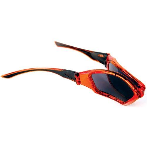 Industrial Sunglare Filters Virtually Unbreakable Safety Spectacles Forceflex 3020 BLACK Frame Smoke Hardcoat HC Lens UV400.