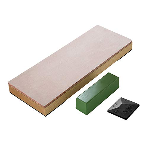 """SHARPAL 204N Leather Strop 8"""" x 3"""" Kit with 2"""