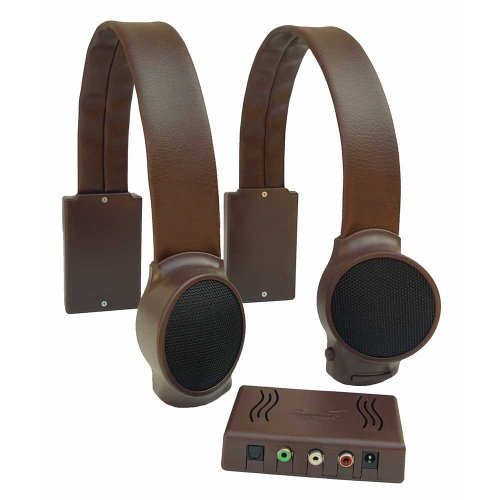 Audio Fox Wireless TV Speakers - Brown