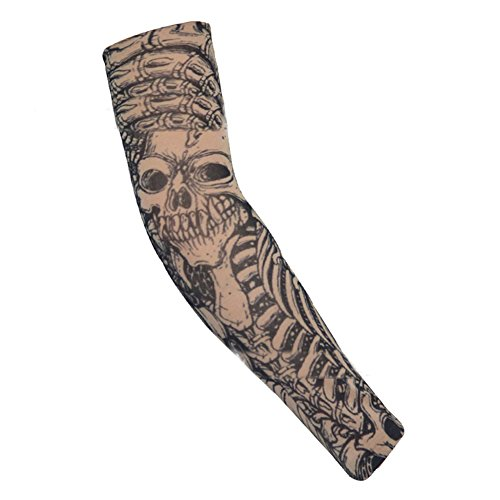 16 Styles Tattoo Sleeve Man Fake Temporary Tattoo Arm Sleeves Unisex Warmers Elastic Uv Protection Cool Printed Sun-proof Punk Crease-Resistance Men's Arm Warmers Apparel Accessories