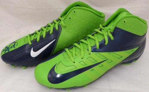 Marshawn Lynch Autographed Signed Nike Cleats Shoes Seahawks Ml Holo 131209 Autographed NFL Cleats
