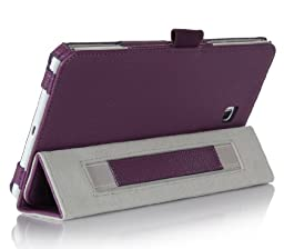 ProCase Folio Case with Stand for Samsung Galaxy Tab 4 8.0 Tablet 2014 ( 8 inch Tab 4, SM-T330 / T331 / T335), with Auto Sleep/Wake feature, bonus stylus pen included (Purple)