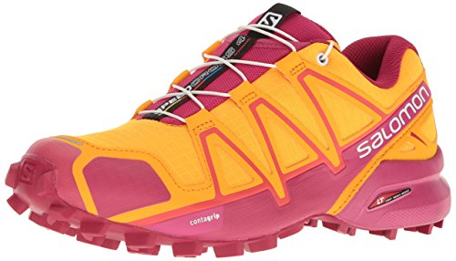 Salomon Women's Speedcross 4 W Trail Runner, Bright Marigold/Sangria/Rose Violet, 9 B(M) US by Salomon