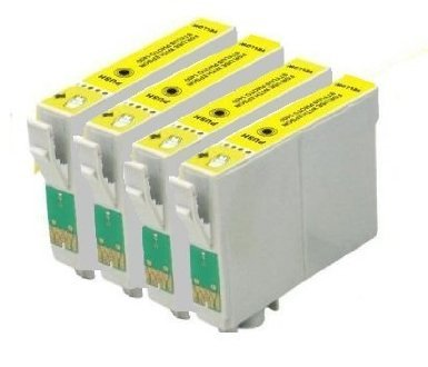 4 cartuchos de tinta compatibles - amarillo para Epson Stylus SX ...
