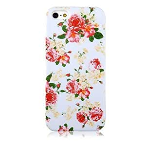 Rose Patr¨®n Caso suave de silicona para el iPhone 4/4S