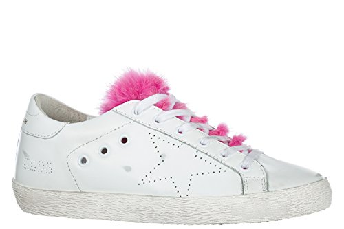 Chaussures Cuir en Sneakers Golden Superstar Goose Blanc Baskets Femme XxYnqB1Z