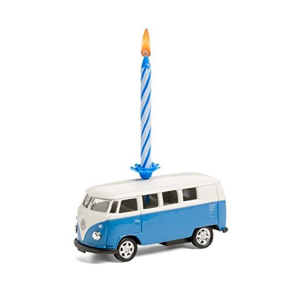 41uJq6MHBpL corpus delicti :: Kerze auf Rädern – kompatibel mit VW Bus T1 Bulli – 4er Set gemischt (blau, orange, gelb, rot) (20…