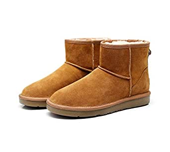 Prime Day Sale 2019 New Premium Wool UGG Women/Men Classic Ankle Boots (US 6, CHESTNUT)