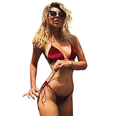 TOOPOOT Women Sandy Beach Bra Sexy Bikini Bandage Split Swimsuits by TOOPOOT-1115