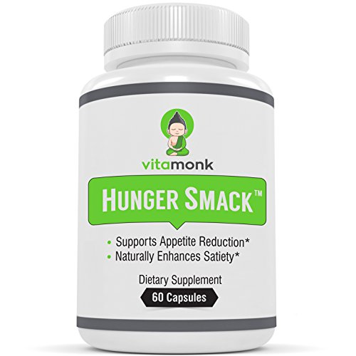 (Hunger Smack™ - Powerful Natural Appetite Suppressant by VitaMonk - Highest Dose of Garcinia Cambogia, Relora, 5-HTP and Chromium to Decrease Hunger - Appetite Suppressor Pills for Weight)