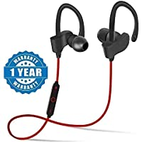 Stonx QC-10 Bluetooth Earphone Wireless Headphones for Mobile Phone Sports Stereo Jogger,Running,Gyming Bluetooth Headset Compatible with All Devices(Multicolour)