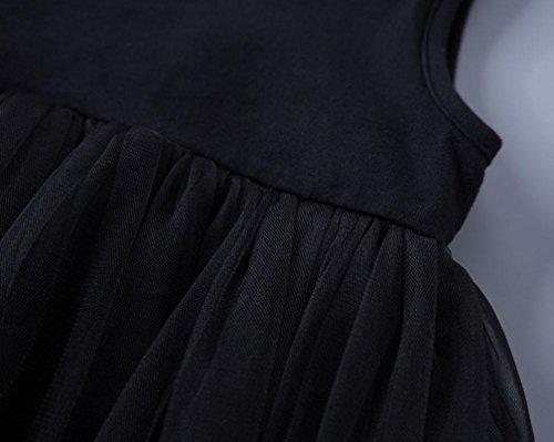 Sommer Baby Malloom® Kleidung Mädchen Schwarz Solid Cute Kid Kinder Kleid Sleeveless dqaOar5