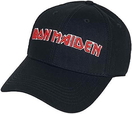 Iron Maiden Logo - Baseball Cap Gorra Negro: Amazon.es: Deportes y ...
