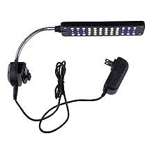 NICREW 48 Led Adjustable Clip on Aquatic Light for Aquarium, 2 Modes with Blue and White Bulb, 3 Watt
