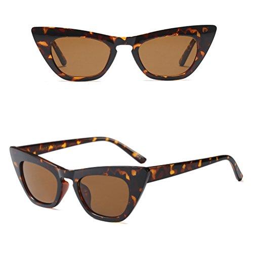 Zhuhaitf Conducción de Protección de Brown Eye Sol Mujer UV400 Travelling para Holiday Cat Gafas qAxB8qw6r4