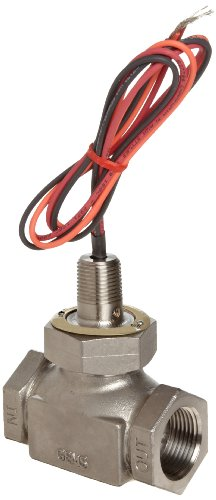 Gems Sensors FS-200 Series Stainless Steel 316 Flow Switch, Inline, Shuttle Type, 0.5 gpm Flow Setting, 1'' NPT Female by Gems Sensors