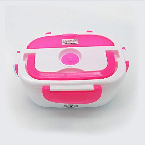 220V Portable Electric Heating Lunch Box Food-Grade Food Container Food Warmer For Kids 4 Buckles Dinnerware Sets ()