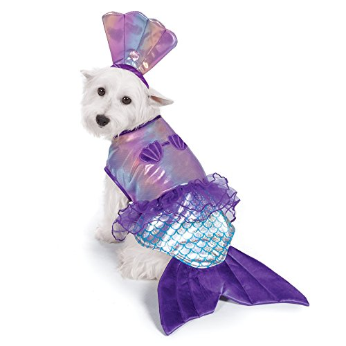 Zack & Zoey Iridescent Mermaid Costume for Dogs, -