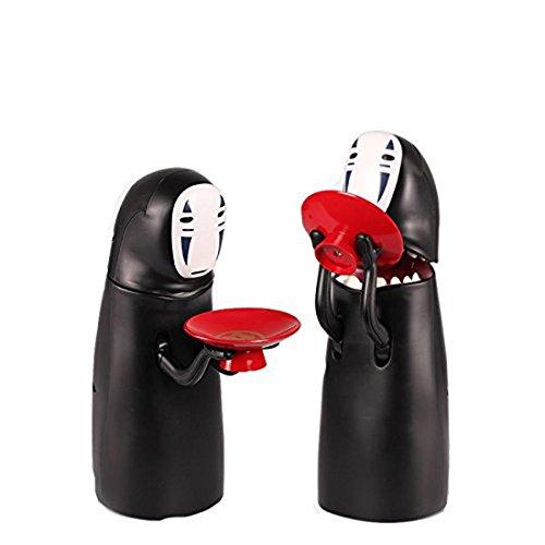 Noir Cadeau amusant pour enfants Kaonashi Tirelire Sans-Visage avalant automatiquement les pi/èces Le Voyage de Chihiro