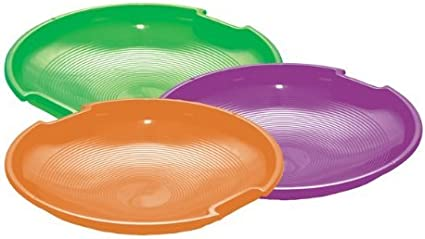 """1 EMSCO 1150//123 26/"""" SNOW SNO RACER DISC SLED SAUCER W//TWO BUILT IN HANDLES"""