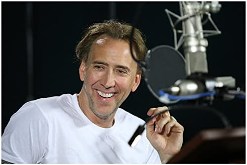 G Force Nicolas Cage As Voice Of Speckles In White T Shirt In Recording Studio Close Up 8 X 10 Inch Photo At Amazon S Entertainment Collectibles Store