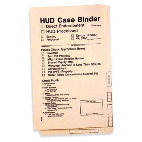 HUD Case Binder, Size 8 3/4 x 15, Quantity 50, Manila