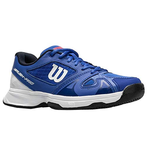 Wilson Junior Rush Pro 2.5 Boy's Tennis Shoe Dazzling Blue/White 2 Little Kid