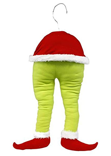 Green Monster Elf Bottom with Posable Legs for Wreath Tree Fireplace - 19 Inch