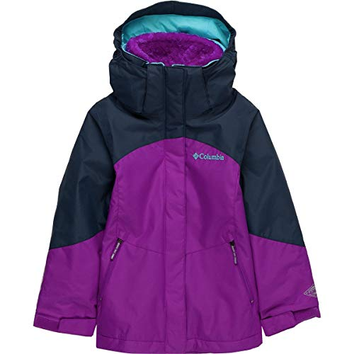 Columbia Little Girl's Bugaboo II Fleece Interchange Jacket, Small, Bright Plum/Nocturnal