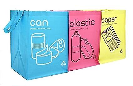 NEW Papelera de Reciclaje Bolsa Impermeable cestas con Asas ...