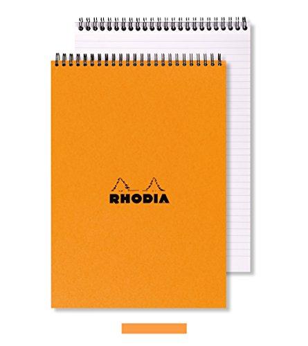 Rhodia Wire - Rhodia Wirebound Lined Orange Notepads 5.8 X 8.3 in. (80 Sheets)