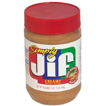 Simply Jif Creamy Peanut Butter, 15.5 Ounce (Pack of 3)