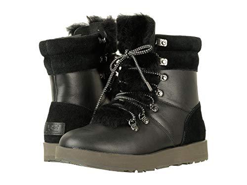 UGG Women's Viki Waterproof Fashion Sneaker, Black, 7 B(M) US