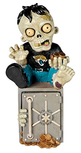 NFL Jacksonville Jaguars Resin Zombie Bank, Green