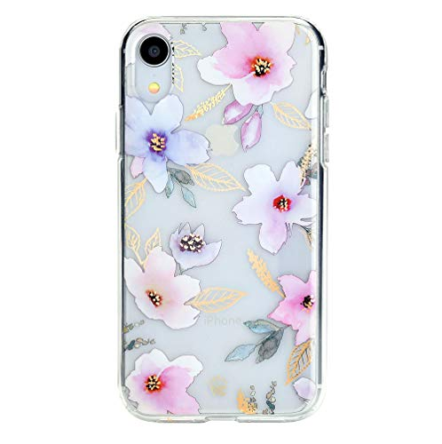 - Floral iPhone XR Case Clear with Cute Flower Design for Girls Women - Protective Cover [Drop Test Certified]