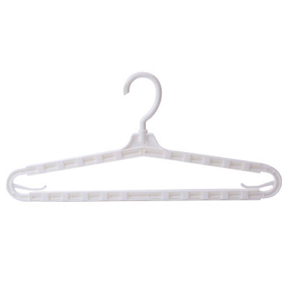 調節可能なハンガー/耐久性Clothes Hangers Orginazerフックのセット/ 5 B B019MQQ9CU