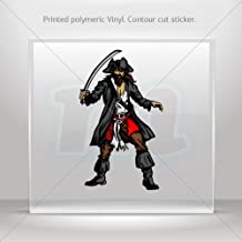 Decal Pirate Decor Room Durable Decoration Waterproof Racing Cars door (6 X 3.57 Inches)