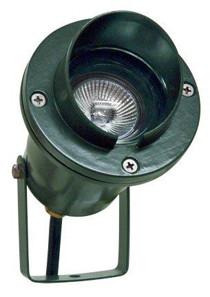 Dabmar LV109-G Hooded Spot Light with Yoke, 20W 12V Mr16, Green Finish