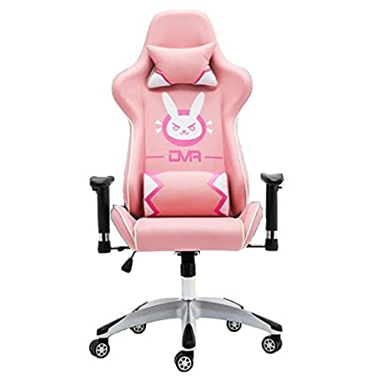 Charmant Overwatch D.VA DVA Bunny Gaming Computer Swivel Chair (Pink)