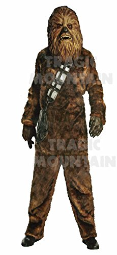 [Adult Men's Deluxe Star Wars Chewbacca Costume Brown (Standard (up to jacket size 44))] (Wookie Costumes)