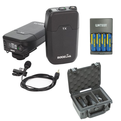 Rode RodeLink Wireless Filmmaker Kit with RodeLink Wireless Case and 4-Hour Rapid Charger (Microphone Kit Lavalier Wireless)