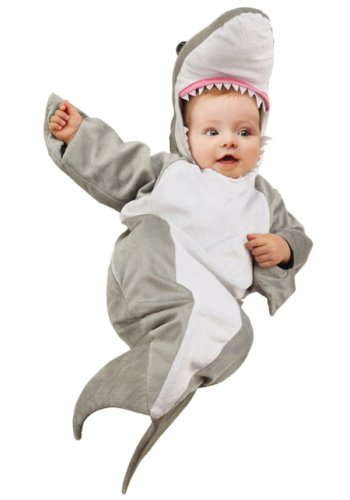 Baby Bunting Costumes (Underwraps Costumes Baby's Shark Bunting Costume, Grey/White, Infant)