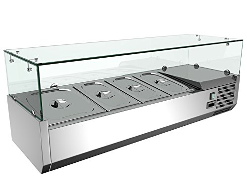 Sandwich Top Refrigerated Counter - 48'' Refrigerated Countertop Sandwich Prep / Pizza Prep table Stainless Steel