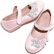 Skeblo Girl's Butterfly Ballet Flats Ballerina Mary Jane Princess Wedding Party Dress S