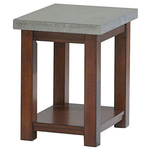Progressive Furniture P426-29 Cascade Chairside Ead Table, Nutmeg and Cement ()
