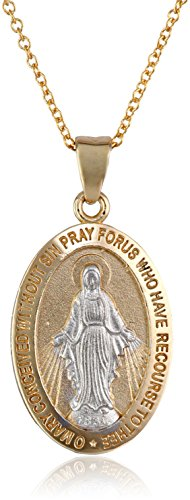 14k-Gold-Two-Tone-Virgin-Mary-Miraculous-Oval-Medal-Necklace-18