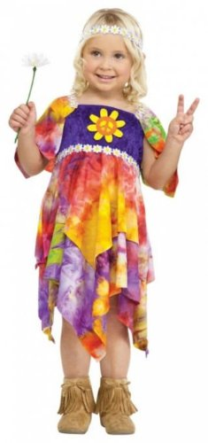 Daisy Hippie Toddler Costume (Large-3T-4T) - 70s Hippie Dress