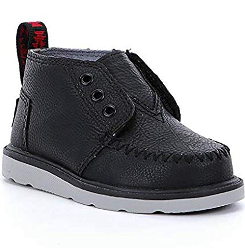TOMS Kids Baby Boy's Chukka Boot (Infant/Toddler/Little Kid) Black Synthetic Leather 7 M US Toddler