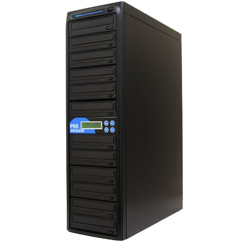 Produplicator 1 to 11 Blu-ray 14X BD BDXL M-Disc CD DVD Duplicator (with 500GB HDD, USB Connection and Nero Essentials CD/DVD Burning Software) Copier Tower Replication Recorder Burner